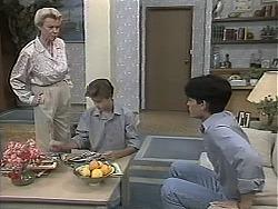 Helen Daniels, Todd Landers, Josh Anderson in Neighbours Episode 1131