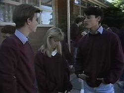 Todd Landers, Melissa Jarrett, Josh Anderson in Neighbours Episode 1132