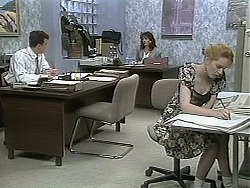 Paul Robinson, Caroline Alessi, Melanie Pearson in Neighbours Episode 1133