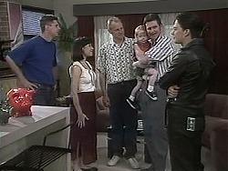Joe Mangel, Kerry Bishop, Jim Robinson, Jamie Clarke, Des Clarke, Matt Robinson in Neighbours Episode 1134
