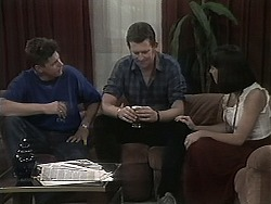 Joe Mangel, Des Clarke, Kerry Bishop in Neighbours Episode 1134