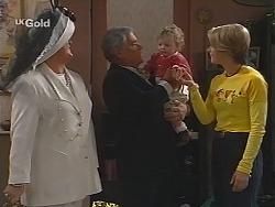 Cheryl Stark, Lou Carpenter, Louise Carpenter (Lolly), Danni Stark in Neighbours Episode 2513