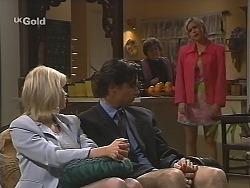 Annalise Hartman, Sam Kratz, Marlene Kratz, Joanna Hartman in Neighbours Episode 2513