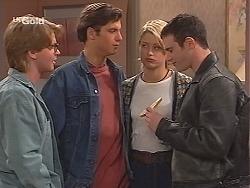 Brett Stark, Malcolm Kennedy, Danni Stark, Stonie Rebecchi in Neighbours Episode 2516