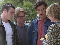 Stonie Rebecchi, Brett Stark, Malcolm Kennedy, Danni Stark in Neighbours Episode 2516