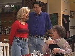 Annalise Hartman, Sam Kratz, Colonel Parker, Marlene Kratz in Neighbours Episode 2518