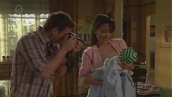 Lucas Fitzgerald, Vanessa Villante, Patrick Villante in Neighbours Episode 6555