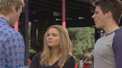 Andrew Robinson, Natasha Williams, Chris Pappas in Neighbours Episode 6555