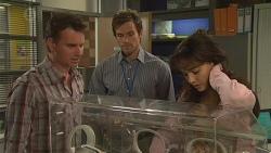 Lucas Fitzgerald, Rhys Lawson, Vanessa Villante in Neighbours Episode 6557