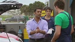 Ajay Kapoor, Aidan Foster, Chris Pappas in Neighbours Episode 6557