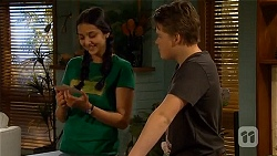 Rani Kapoor, Callum Jones in Neighbours Episode 6564