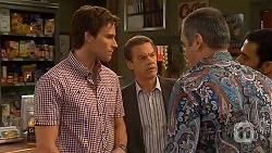 Rhys Lawson, Paul Robinson, Karl Kennedy, Ajay Kapoor in Neighbours Episode 6566