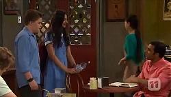 Callum Jones, Rani Kapoor, Ajay Kapoor in Neighbours Episode 6567