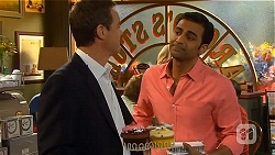 Paul Robinson, Ajay Kapoor in Neighbours Episode 6568