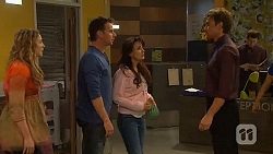 Sonya Mitchell, Lucas Fitzgerald, Vanessa Villante, Rhys Lawson in Neighbours Episode 6571