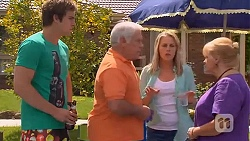 Kyle Canning, Lou Carpenter, Lauren Turner, Sheila Canning in Neighbours Episode 6574
