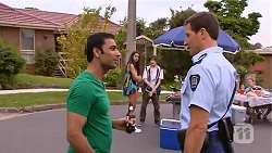 Ajay Kapoor, Rani Kapoor, Bailey Turner, Matt Turner in Neighbours Episode 6574
