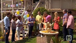 Kyle Canning, Susan Kennedy, Angie Rebecchi, Callum Jones, Toadie Rebecchi, Sonya Mitchell, Georgia Brooks, Karl Kennedy, Ajay Kapoo in Neighbours Episode 6578