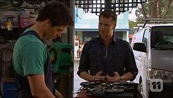 Chris Pappas, Lucas Fitzgerald in Neighbours Episode 6584
