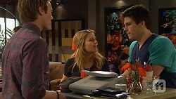 Andrew Robinson, Natasha Williams, Chris Pappas in Neighbours Episode 6584