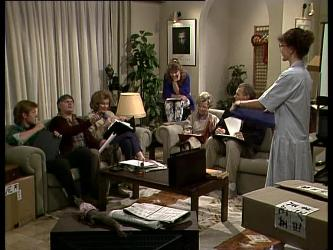 Clive Gibbons, Tom Ramsay, Madge Bishop, Charlene Mitchell, Helen Daniels, Jim Robinson, Jean Richards in Neighbours Episode 0283