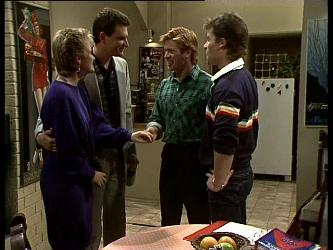 Daphne Clarke, Des Clarke, Clive Gibbons, Mike Young in Neighbours Episode 0283