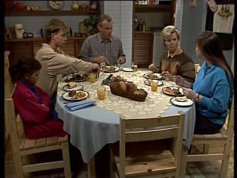 Lucy Robinson, Scott Robinson, Jim Robinson, Helen Daniels, Nikki Dennison in Neighbours Episode 0285