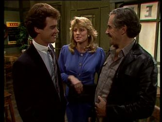 Paul Robinson, Debra Fleming, Jack Lassiter in Neighbours Episode 0285