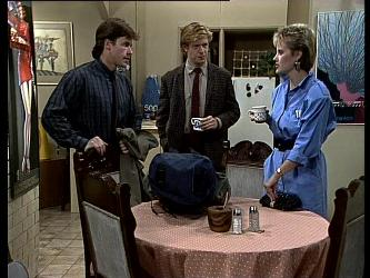 Mike Young, Clive Gibbons, Daphne Clarke in Neighbours Episode 0287