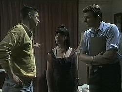 Joe Mangel, Kerry Bishop, Des Clarke in Neighbours Episode 1136