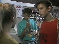 Melissa Jarrett, Josh Anderson, Todd Landers in Neighbours Episode 1137