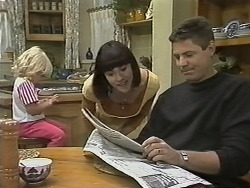 Sky Bishop, Kerry Bishop, Joe Mangel in Neighbours Episode 1148