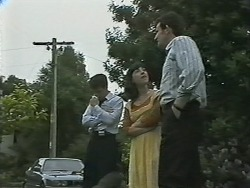 Paul Robinson, Kerry Bishop, Des Clarke in Neighbours Episode 1148