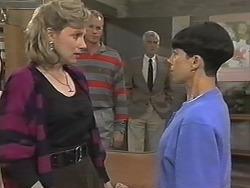 Beverly Robinson, Jim Robinson, Kenneth Muir, Hilary Robinson in Neighbours Episode 1148