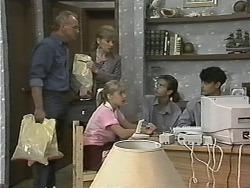 Jim Robinson, Beverly Marshall, Melissa Jarrett, Todd Landers, Josh Anderson in Neighbours Episode 1151