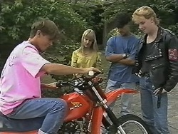 Todd Landers, Melissa Jarrett, Josh Anderson, Cliff in Neighbours Episode 1151