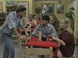 Todd Landers, Josh Anderson, Melissa Jarrett in Neighbours Episode 1151