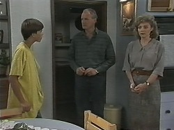 Todd Landers, Jim Robinson, Beverly Marshall in Neighbours Episode 1152