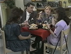 Christina Alessi, Paul Robinson, Melanie Pearson, Caroline Alessi in Neighbours Episode 1155