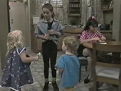 Sky Mangel, Lochy McLachlan, Jamie Clarke, Natasha Kovac in Neighbours Episode 1155