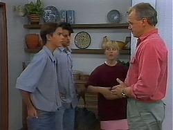 Todd Landers, Josh Anderson, Melissa Jarrett, Jim Robinson in Neighbours Episode 1156
