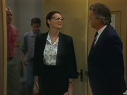Jim Robinson, Todd Landers, Dorothy Burke, Acting Principal in Neighbours Episode 1156