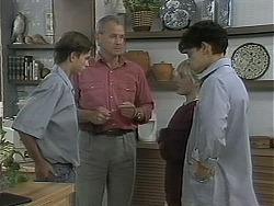Todd Landers, Jim Robinson, Melissa Jarrett, Josh Anderson in Neighbours Episode 1157