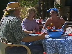 Jim Robinson, Beverly Marshall, Nick Page in Neighbours Episode 1157