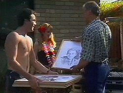 Nick Page, Melanie Pearson, Jim Robinson in Neighbours Episode 1157