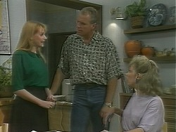 Melanie Pearson, Jim Robinson, Beverly Marshall in Neighbours Episode 1158