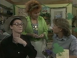 Dorothy Burke, Gloria Lewis, Ryan McLachlan in Neighbours Episode 1160