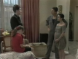 Dorothy Burke, Lochy McLachlan, Joe Mangel, Kerry Bishop in Neighbours Episode 1160