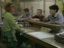 Gloria Lewis, Todd Landers, Melissa Jarrett, Josh Anderson in Neighbours Episode 1161