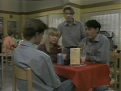 Todd Landers, Melissa Jarrett, Sean Jarrett, Josh Anderson in Neighbours Episode 1161